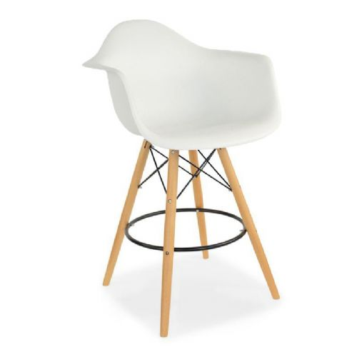 2x White Eiffel Style Barstool, with Tub Chair